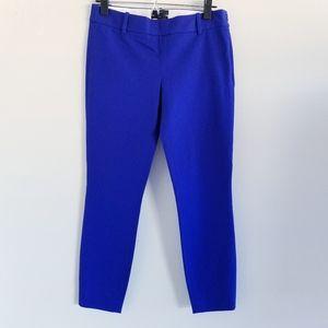 J Crew Minnie royal blue ankle skinny pants NWT 0